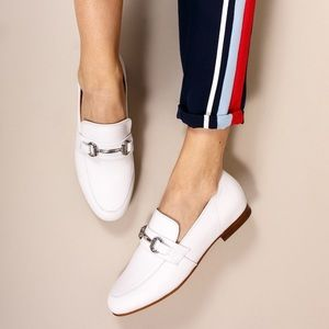Steve Madden Kerry White Loafers Flats
